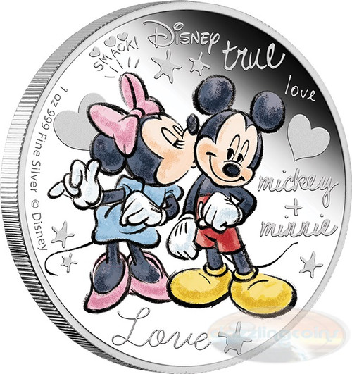 Mickey and Minnie - Crazy in Love 2015 Niue Silver Proof