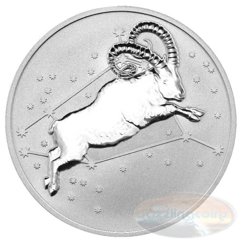 2015 Myth & Legend - Aries 1oz Silver Reverse Proof Tokelau Coin
