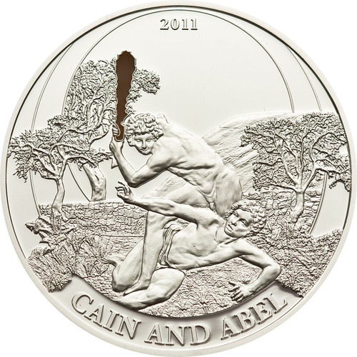Cain & Abel Silver Proof Coin 2$ Palau 2011