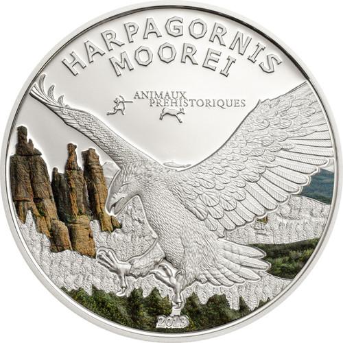Eagle Harpagonis Moorei 1000 Fr Silver Coin Gabon 2013