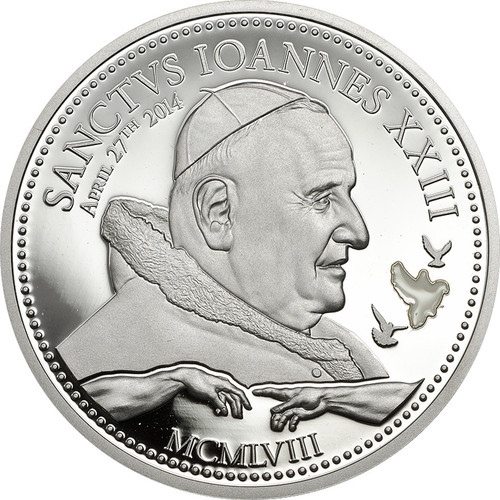 Pope Johannes XXIII~Silver Coin 2$ Cook Island 2014