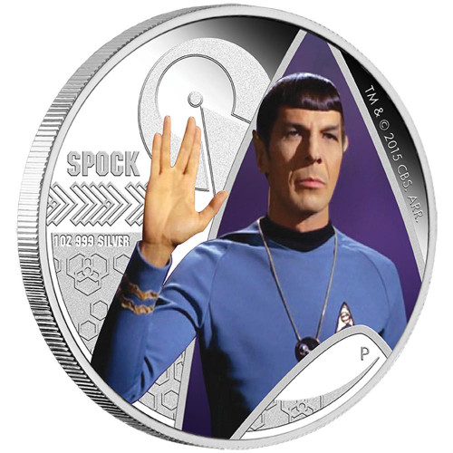SPOCK  2015 1oz Silver Proof Coin - Star Trek - The Original Series