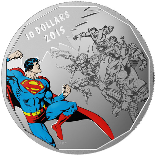 2015 $10 Fine Silver Superman Coin - DC Comics Originals: Gauntlet