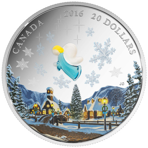 2016 $20 1 oz Fine Silver Coin - Murano Glass - My Angel