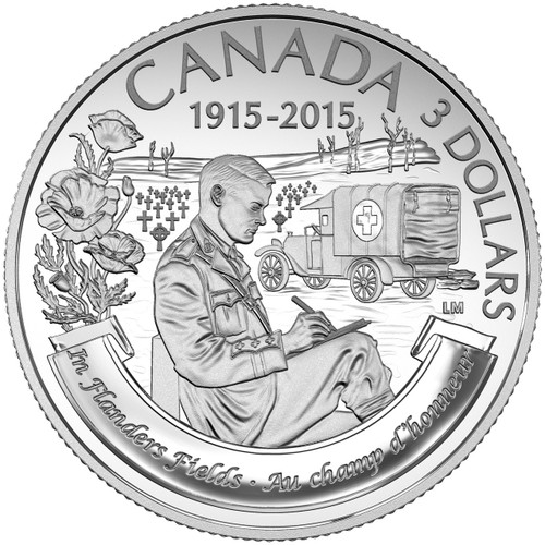 2015 $3 1/4 Fine Silver Coin - 100th Anniversary Of In Flanders Fields