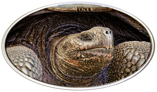 Lonesome George Relief  5C .999 Silver  Coin 2015 Niu