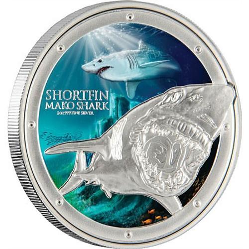 Mako Shark  1 oz Silver Coin Niue 2015