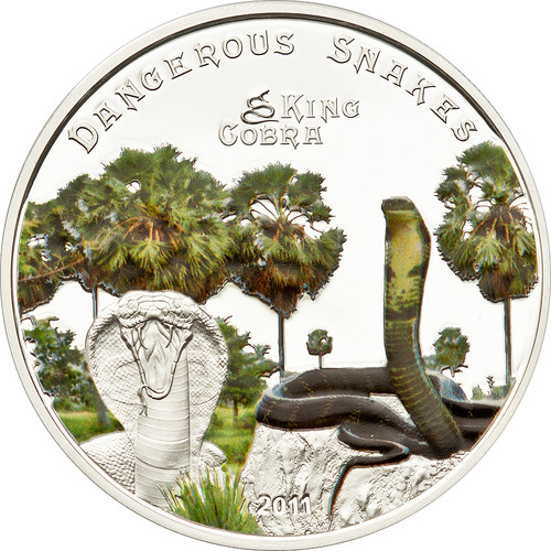 KING COBRA 5$ Cook Island Silver Coin 2011