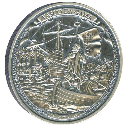 Niue 2015 2 oz Silver Coin - Journeys Of VASCO DA GAMA