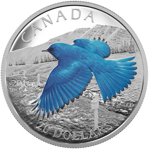 2016 Mountain Bluebird - Migratory Birds Proof $20 Silver Coin 1 oz .9999
