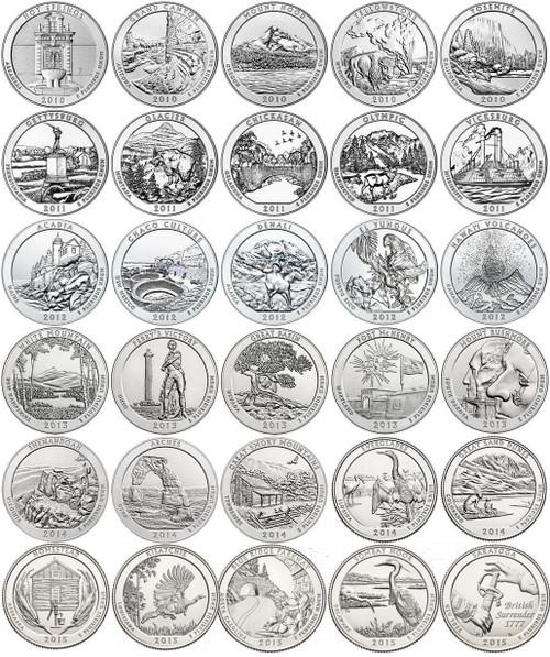 National Park Quarters 2010 - 2015 D Unc set of 30 coins