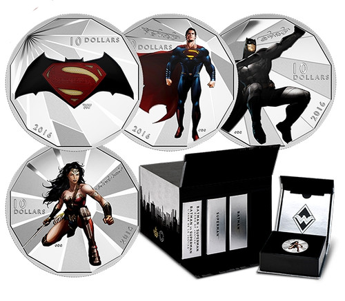2016 $10 Silver Coin - Batman Versus Superman Dawn of Justice Set