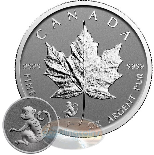 2016 Maple Leaf Monkey Privy 1 oz Silver $5 Coins DC