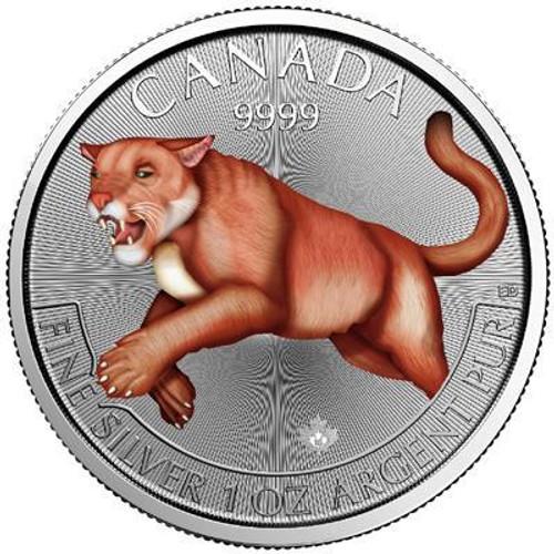 2016 Cougar Canada Predator Series-Color 1 oz .9999 Silver $5