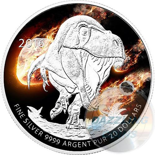 2016 $20 Fine Silver Coin -T-REX