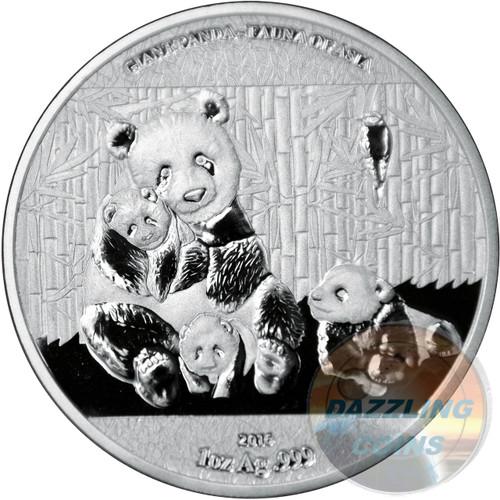 Giant Panda - 2016 Burkina Faso 1 oz Silver Coin