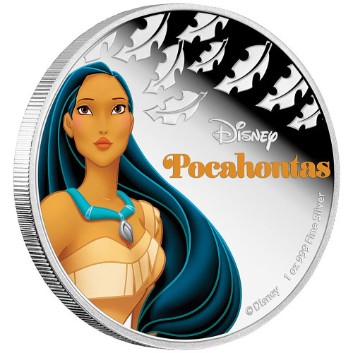 Disney Princess POCAHONTAS - 2016 Niue 1 oz Silver Coin