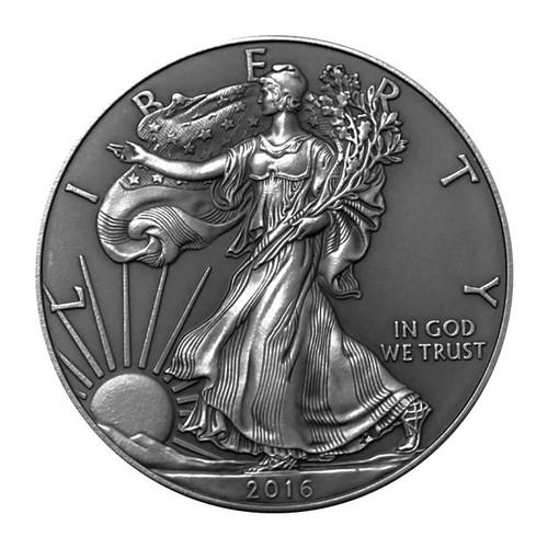 2016 1 oz Silver American Eagle ANTIQUE FINISH Reverse