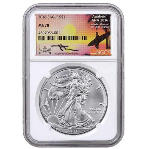 2016 American Silver Eagle NGC MS70 - Exclusive  ANA Edition