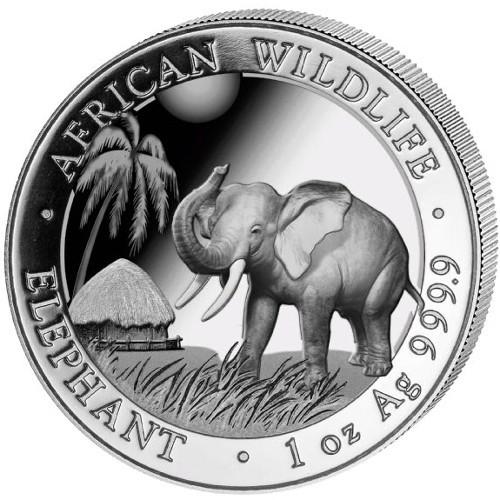 2017 1 oz Somalian Silver Elephant Coin