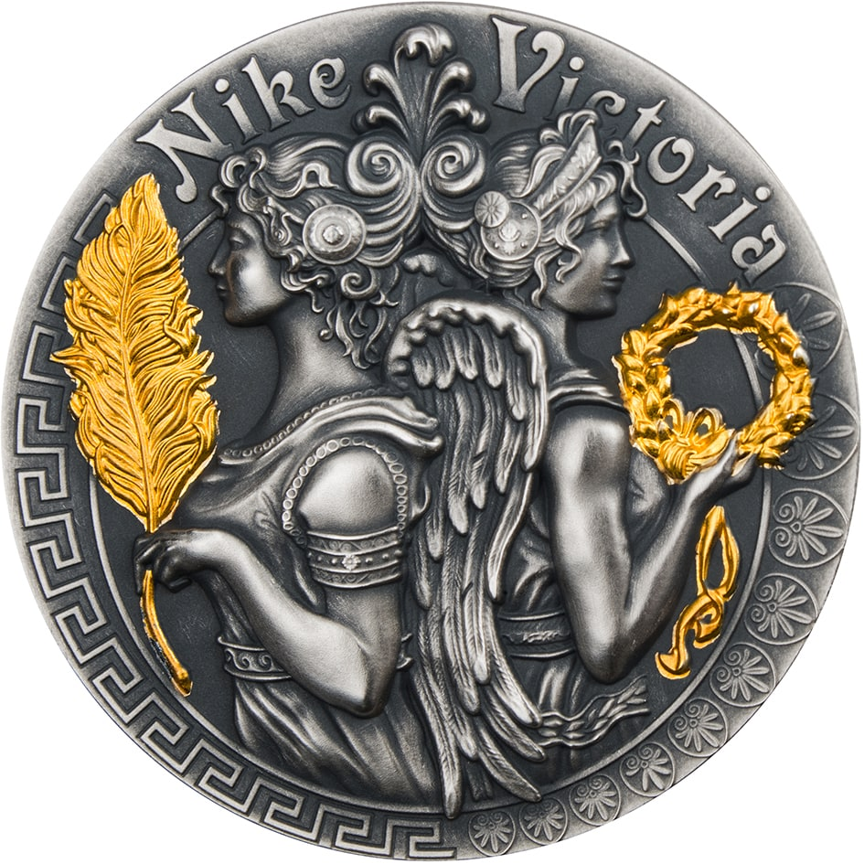 Victoria And Nike Goddesses 2 Oz Silver Coin 5 Niue 2018