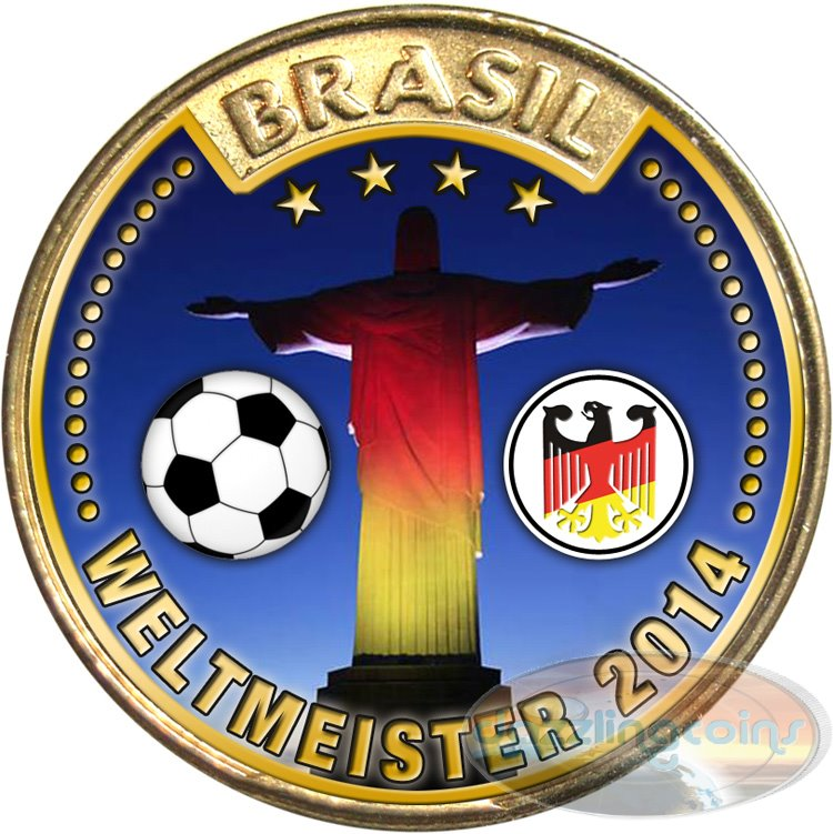 Germany Soccer World Champion 2014 On Brazil 25 Centavos