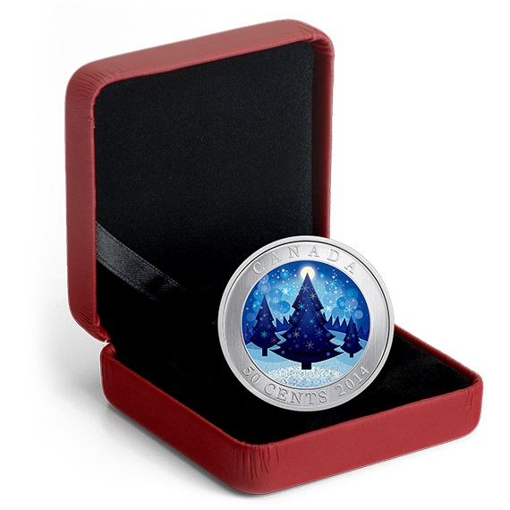 Christmas Tree For 2014: Lenticular 50-Cent Holiday Coin Canada 2014