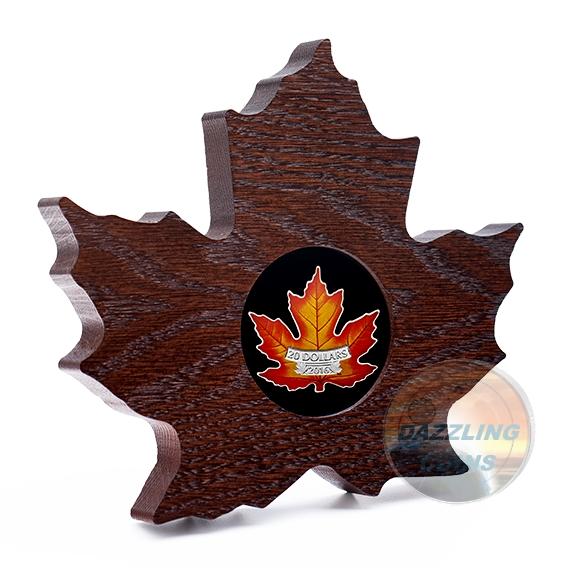 The Canadian Maple Leaf Shape Color 2016 20 1 Oz Pure