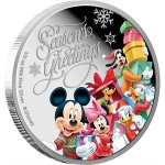 MICKEY MOUSE & FRIENDS SEASONS GREETINGS 2015 NIUE SILVER PROOF