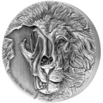 THE BEAST'S SKULL – ENDANGERED ASIATIC LION SKULL 2 OZ SILVER COIN NIUE 2018