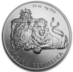 10 oz CZECH DOUBLE-TAILED LION - SILVER COIN NIUE 2018