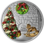 MURANO HOLIDAY WREATH 1 OZ SILVER COIN CANADA 2019