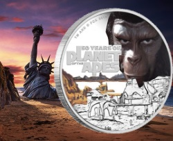 PLANET OF THE APES - 50TH. ANN. 2018 1OZ SILVER PROOF COIN