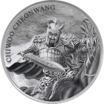 CHIWOO CHEONWANG 1 OZ SILVER MEDAL 1 CLAY SOUTH KOREA 2018