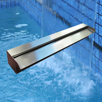 600mm Wide Wide Spillway Water Wall Blade - 35mm Lip