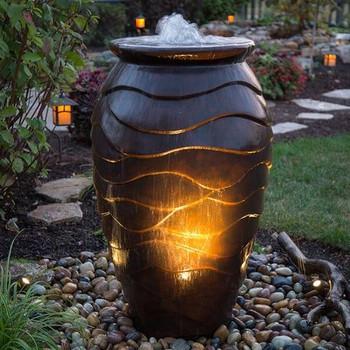 Scalloped Urn Landscape Fountain Kit