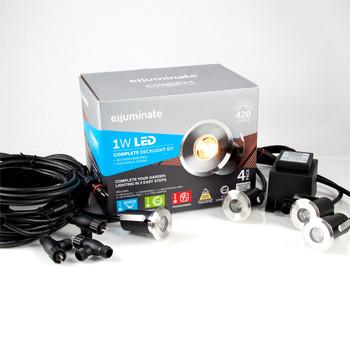 Elluminate LED Deck Light 4 Set Kit - Warm White