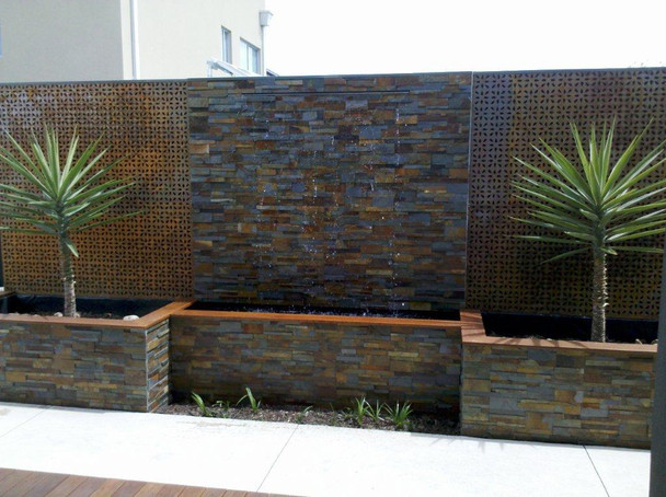 SAVER 1200mm Spillway with 1600mm Wide  Trough- DIY WATER FEATURE KIT for WaterWall   Casade Effect