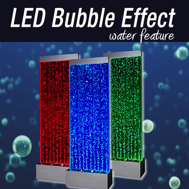 Bubble Waterwall Feature with Interchanagble LED light