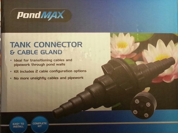 Tank connector and cable gland kit