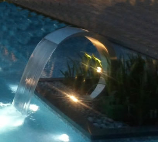 Swimming Pool stainless steel waterfall  curtain Pacific600