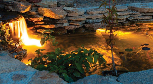 3 x Submersible LED Multi Colour Pond Light Kit  with Remote