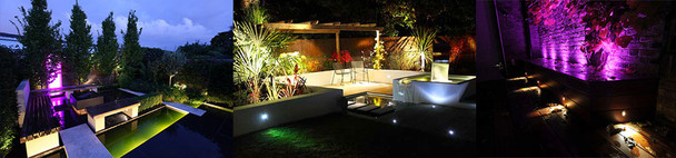 5 x Submersible LED Multi Colour Pond Light Kit  with Remote