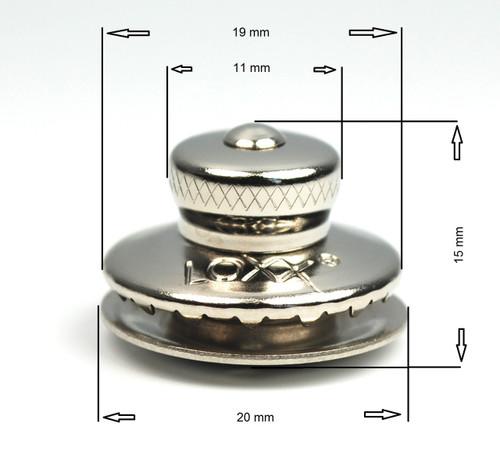 German Tenax (LOXX) fastener, nickel plated