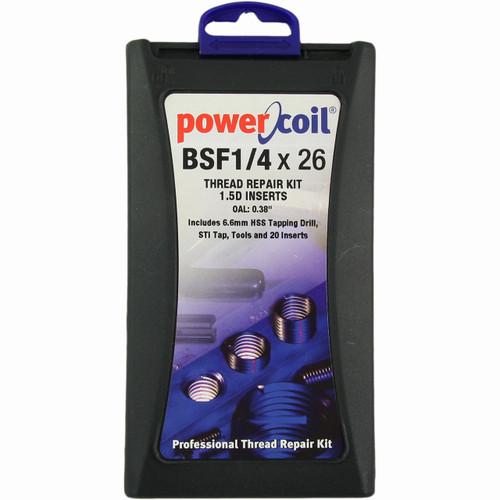 Power Coil thread insert kit 1/4 BSF