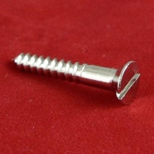 Wood Screw Countersunk Slot Brass Nickel plated