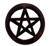 Wooden Pentagram Altar Tile 10cm