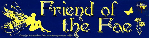 Friend of the Fae bumper sticker 29cm x 7.5cm