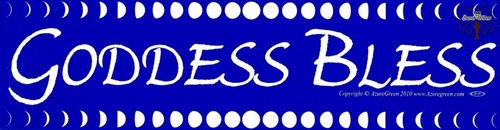 Goddess Bless bumper sticker 29cm x 7.5cm