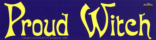 Proud Witch bumper sticker 29cm x 7.5cm